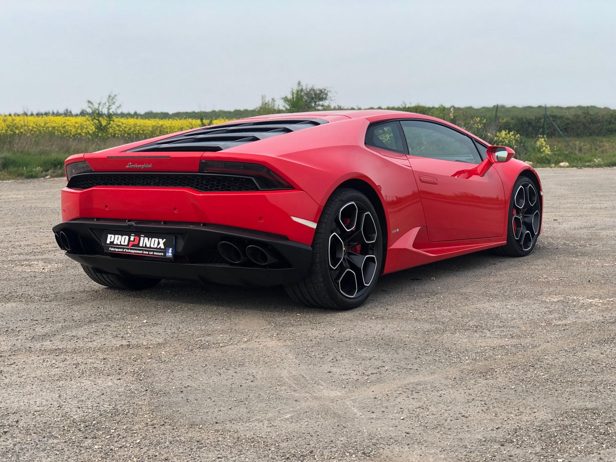 echappement inox Lamborghini Huracan LP610