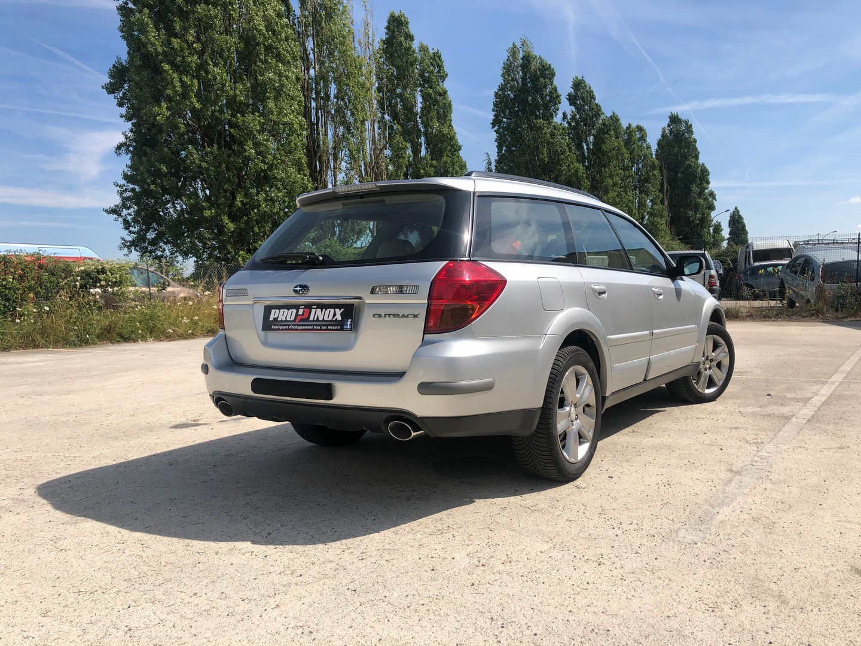 Échappement inox Subaru Outback flat 6